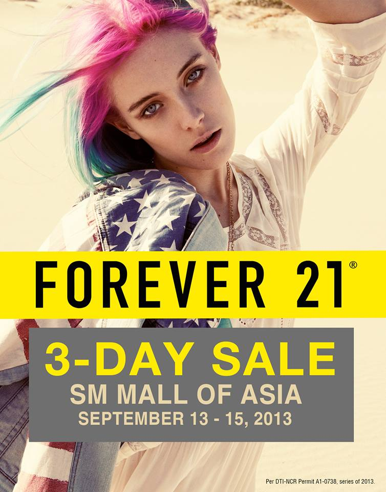 Forever 21 3-Day Sale @ SM Mall of Asia September 2013