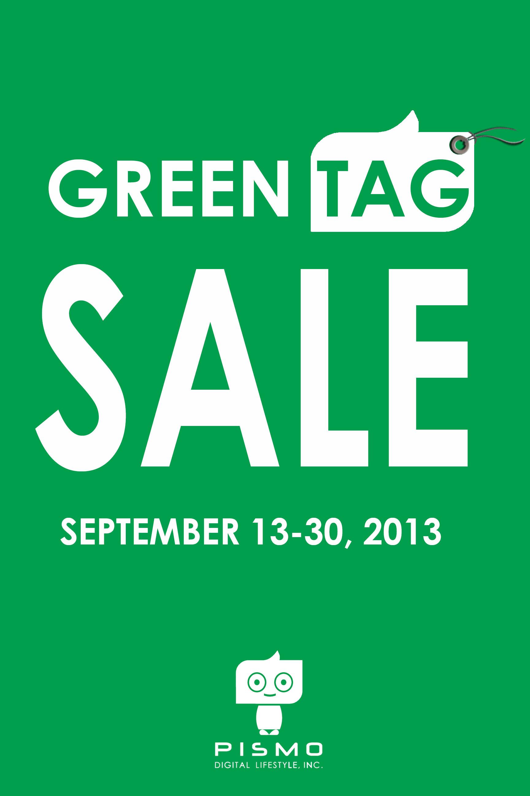 Pismo Digital Lifestyle Green Tag Sale September 2013