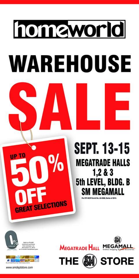 Homeworld Warehouse Sale @ SM Megatrade Hall September 2013