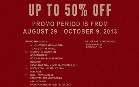 Levi's Sale @ Market Market & Robinsons Lipa September - November 2013
