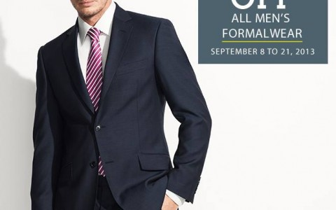 Marks & Spencer Men's Formalwear Sale September 2013