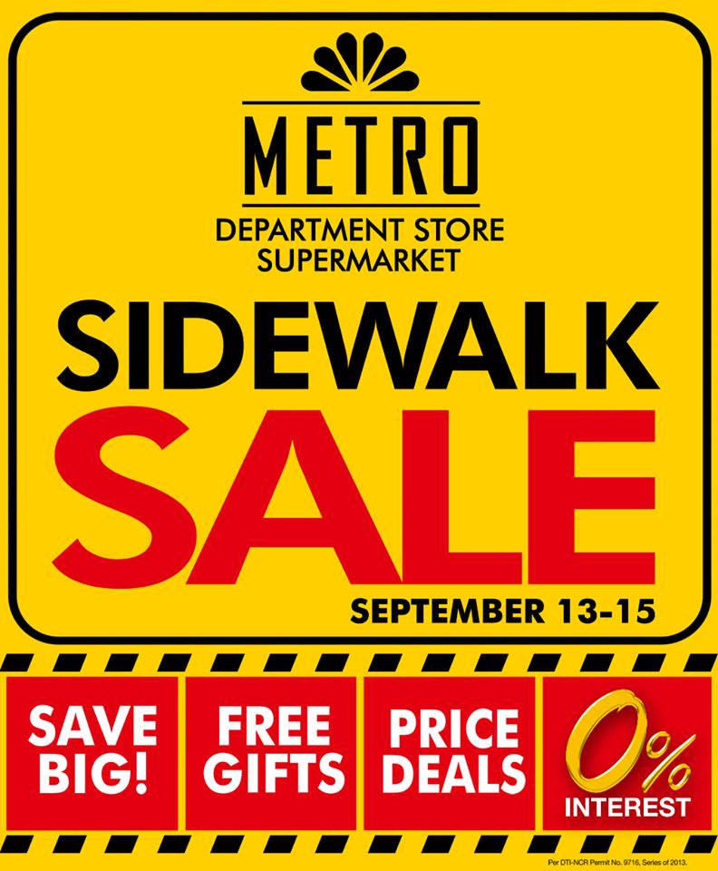 Metro Department Store & Supermarket Sidewalk Sale September 2013
