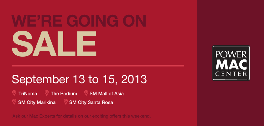Power Mac Center Weekend Sale September 2013