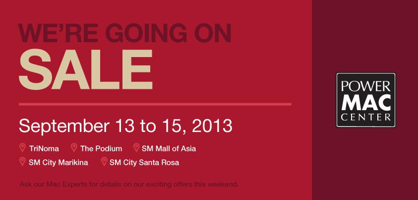 Power Mac Center Weekend Sale September 2013