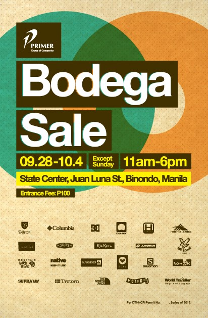 Primer Bodega Sale @ State Center: September - October 2013