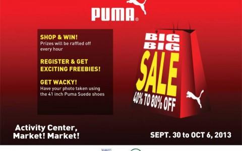 Puma Big Big Sale @ Market Market September - October 2013