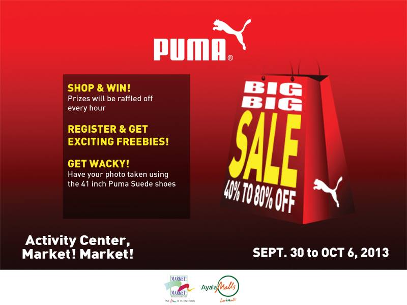 Puma Big Big Sale @ Market Market September - October 2013