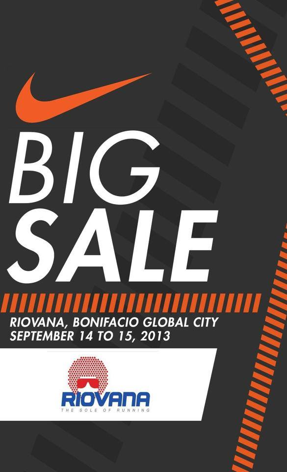 Riovana Nike Sale @ Bonifacio Global City September 2013