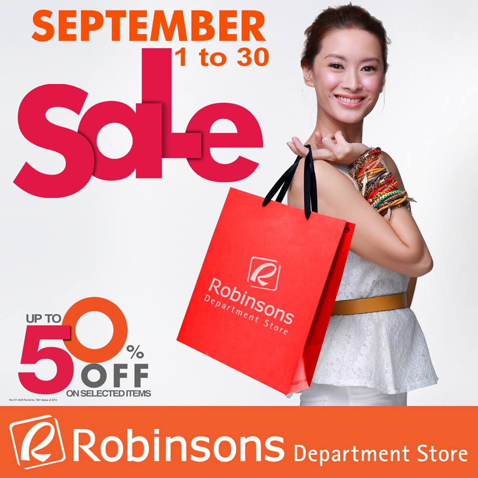 Robinsons Department Store Sale September 2013