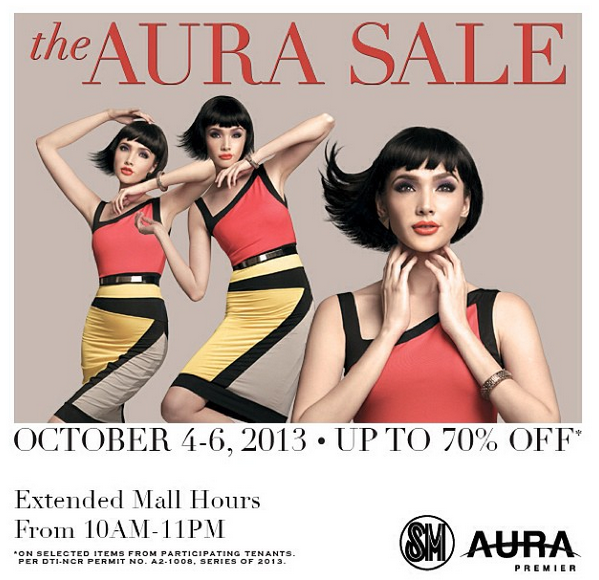 SM Aura 3-Day Sale October 2013