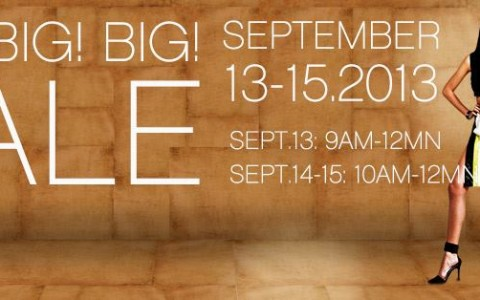 SM Mall of Asia Big Big Sale September 2013