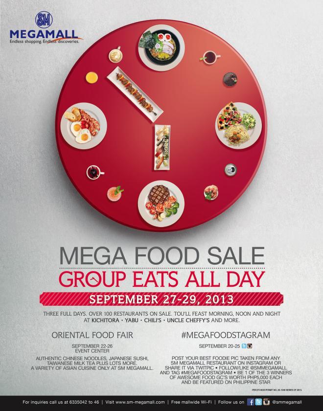 Mega Food Sale @ SM Megamall September 2013
