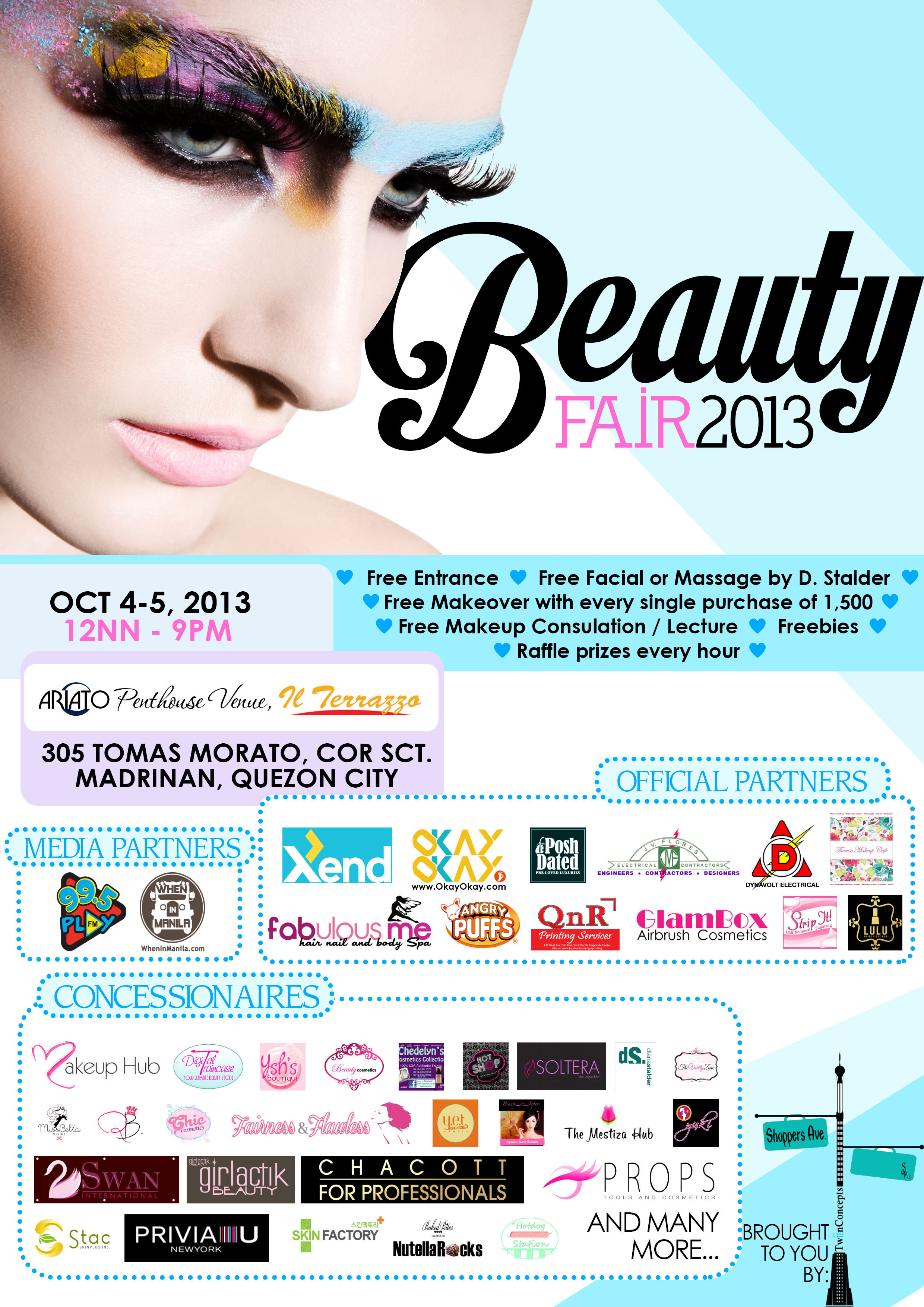 Shoppers Avenue Beauty Fair 2013 @ Il Terrazzo October 2013