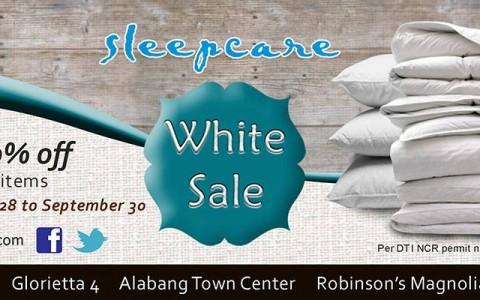 Sleepcare White Sale August - September 2013