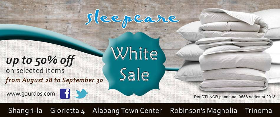 Sleepcare White Sale August - September 2013