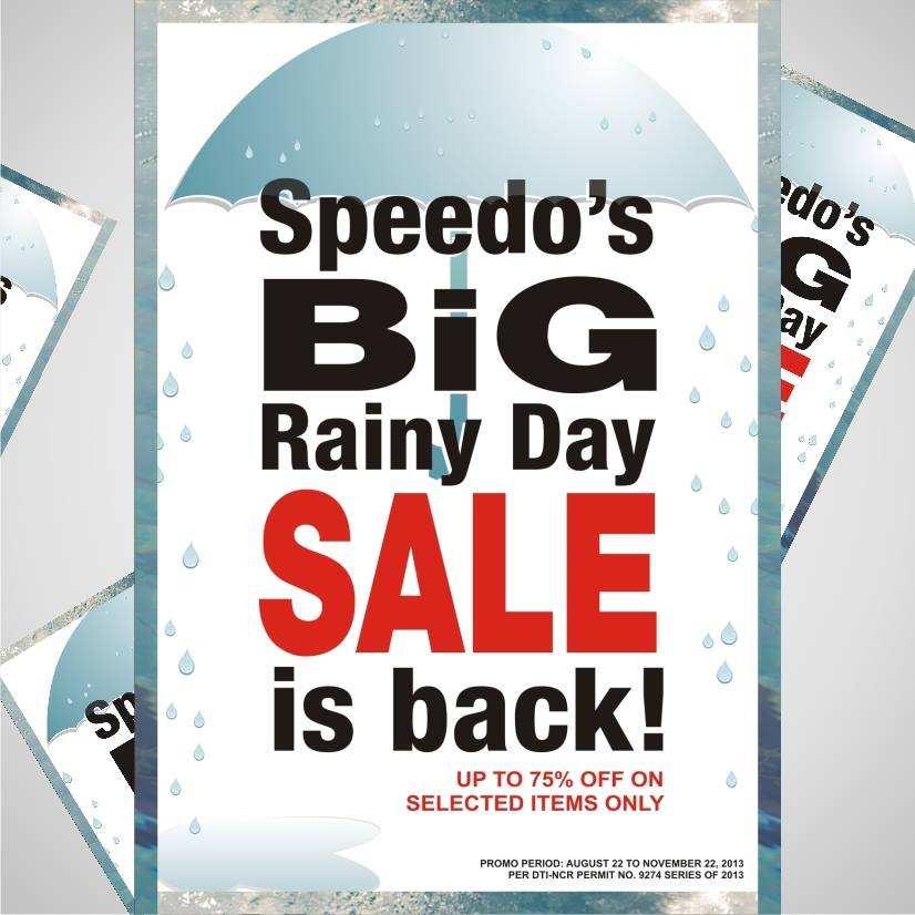Speedo Big Rainy Day Sale August - November 2013
