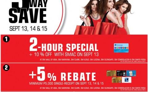The SM Store (SM Mall of Asia, Marikina, Clark, Iloilo, Lucena, Olongapo, Consolacion & Sta. Rosa) 3-Day Sale: September 2013