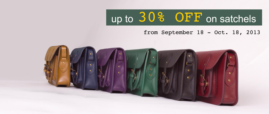 The School of Satchel Online Sale September - October 2013