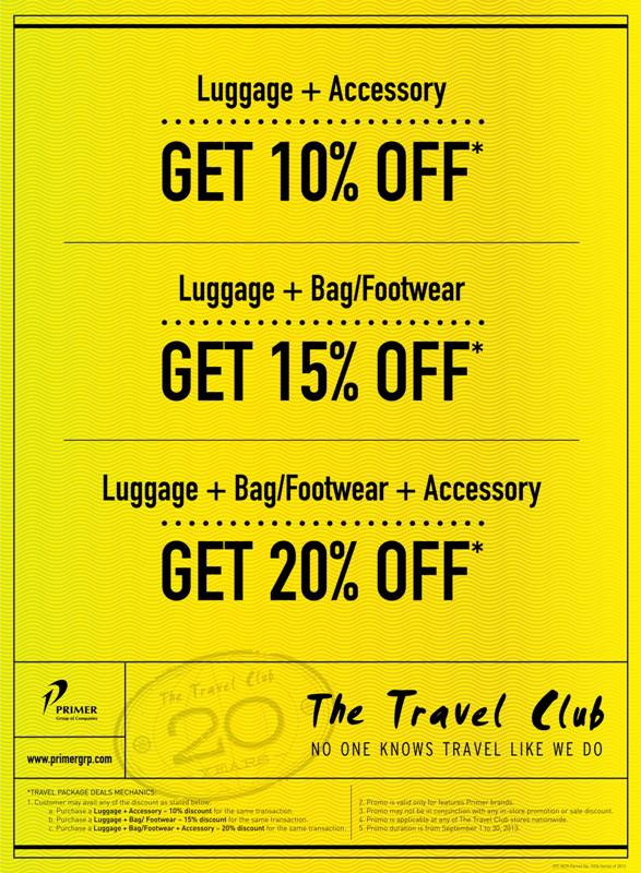 The Travel Club Package Deals Promo September 2013