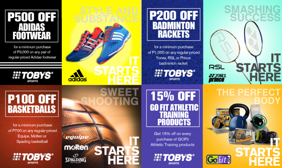 Tobys Unbeatable Sports Deals September - October 2013