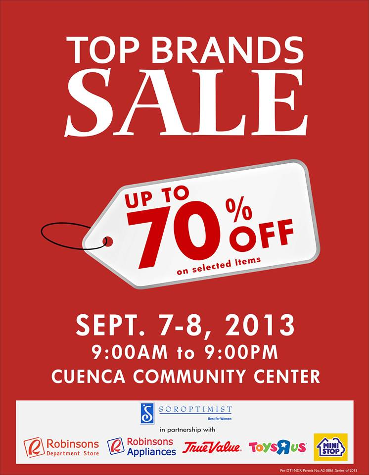 Top Brands Sale @ Cuenca Community Center Ayala Alabang September 2013