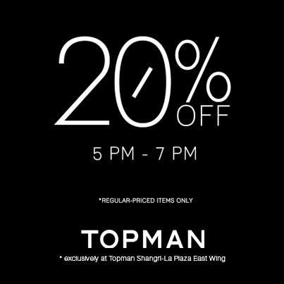Topman Sale @ Shangri-La Plaza Mall September 2013
