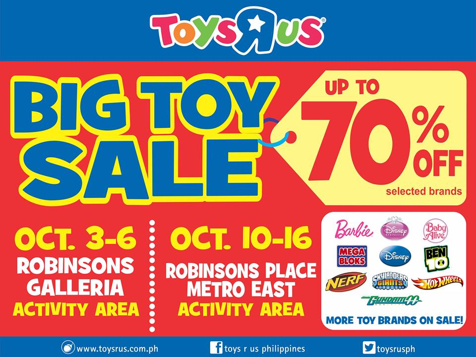 Toys R Us Big Toy Sale October 2013