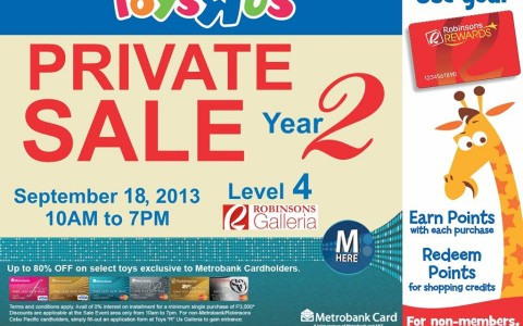 Toys R Us Private Sale @ Robinsons Galleria September 2013