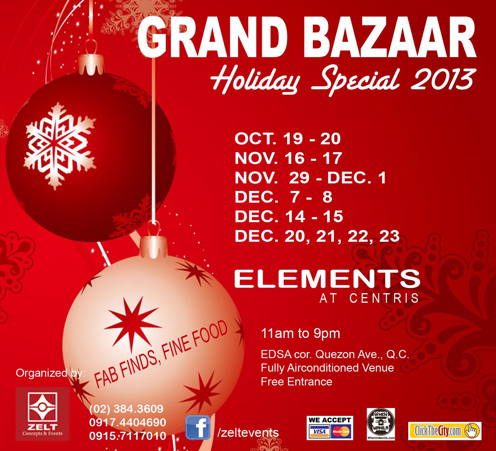 Grand Bazaar @ Elements, Eton Centris October - December 2013