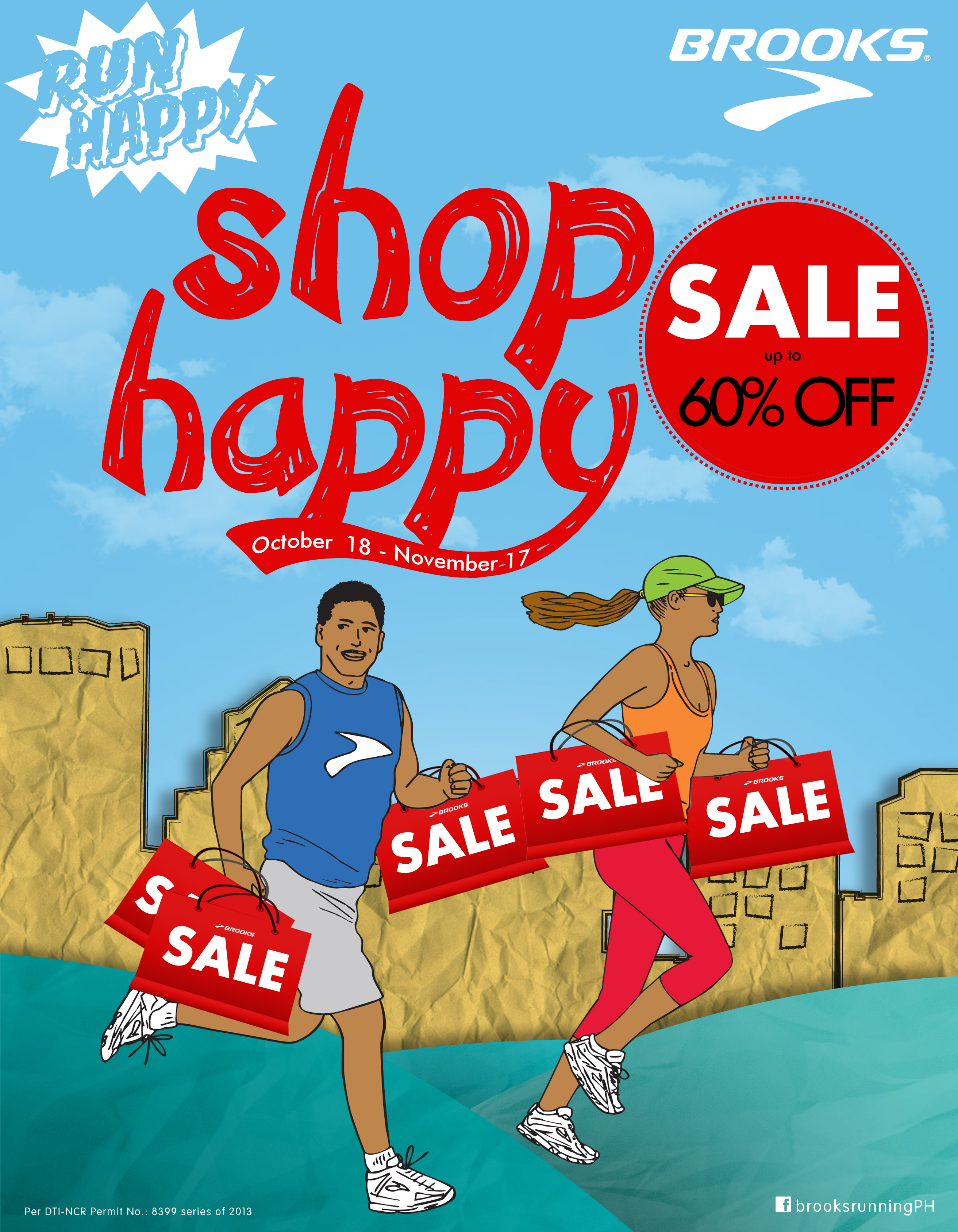 Brooks Run Happy Shop Happy Sale @ SM City North Edsa October - November 2013