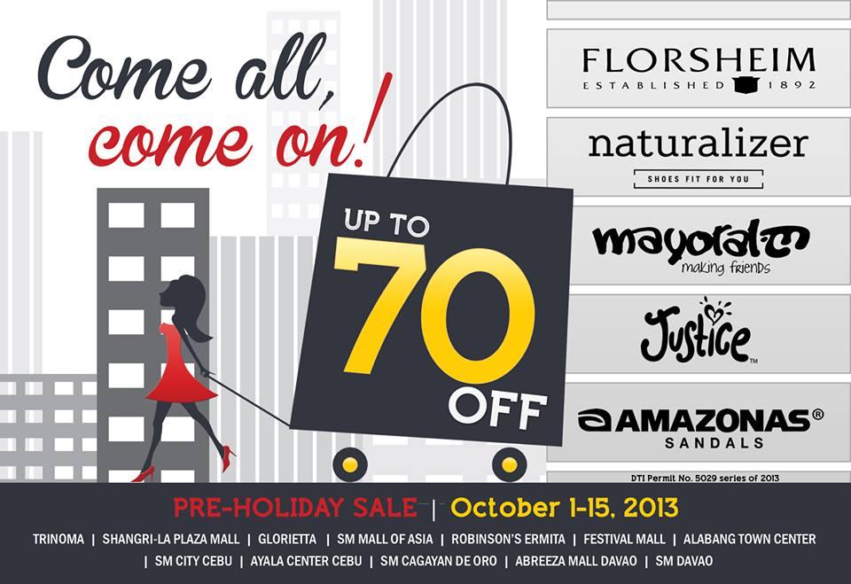 Florsheim, Naturalizer, Amazonas Pre-Holiday Sale October 2013