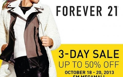 Forever 21 3-Day Sale @ SM Megamall October 2013