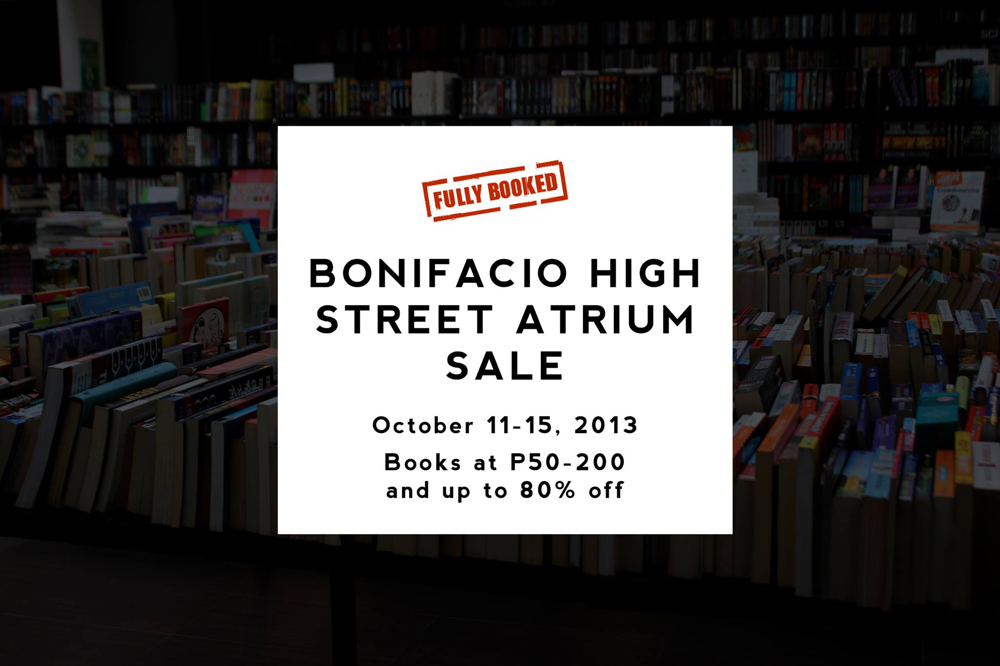 Fully Booked Atrium Sale @ Bonifacio High Street October 2013