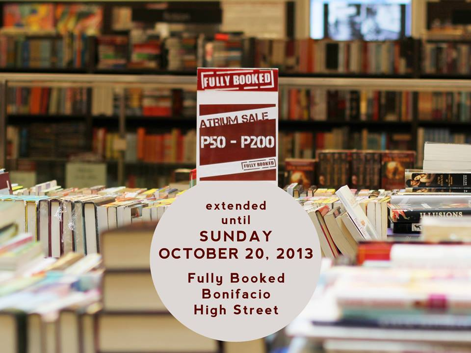Fully Booked Atrium Sale @ Bonifacio High Street October 2013