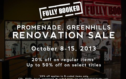 Fully Booked Renovation Sale @ Promenade Greenhills October 2013