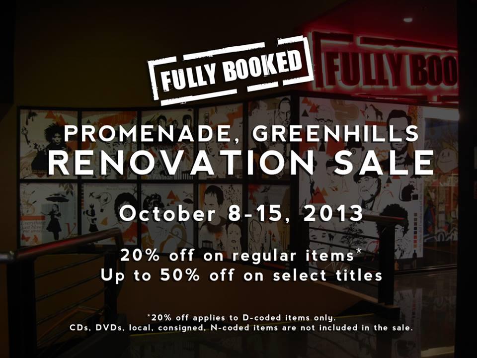 Fully Booked Renovation Sale @ Promenade Greenhills October 2013
