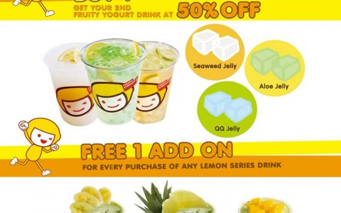 Happy Lemon Fun Fruity Promos October - November 2013