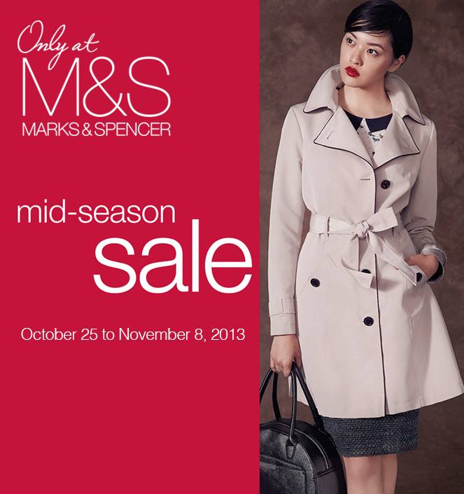 Marks & Spencer Mid-Season Sale October - November 2013