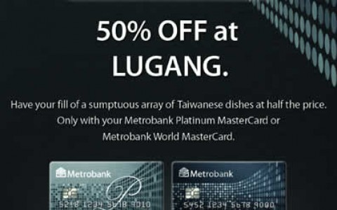 Metrobank Platinum Mastercard Promo: 50% off @ Lugang Cafe October - November 2013