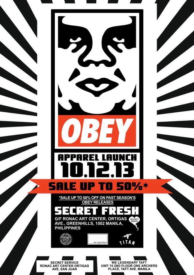 Obey Apparel Launch + Sale @ Secret Fresh, Ronac Art Center October 2013