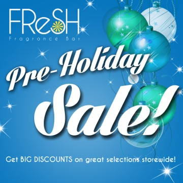 Fresh Fragrance Bar Pre-Holiday Sale October 2013