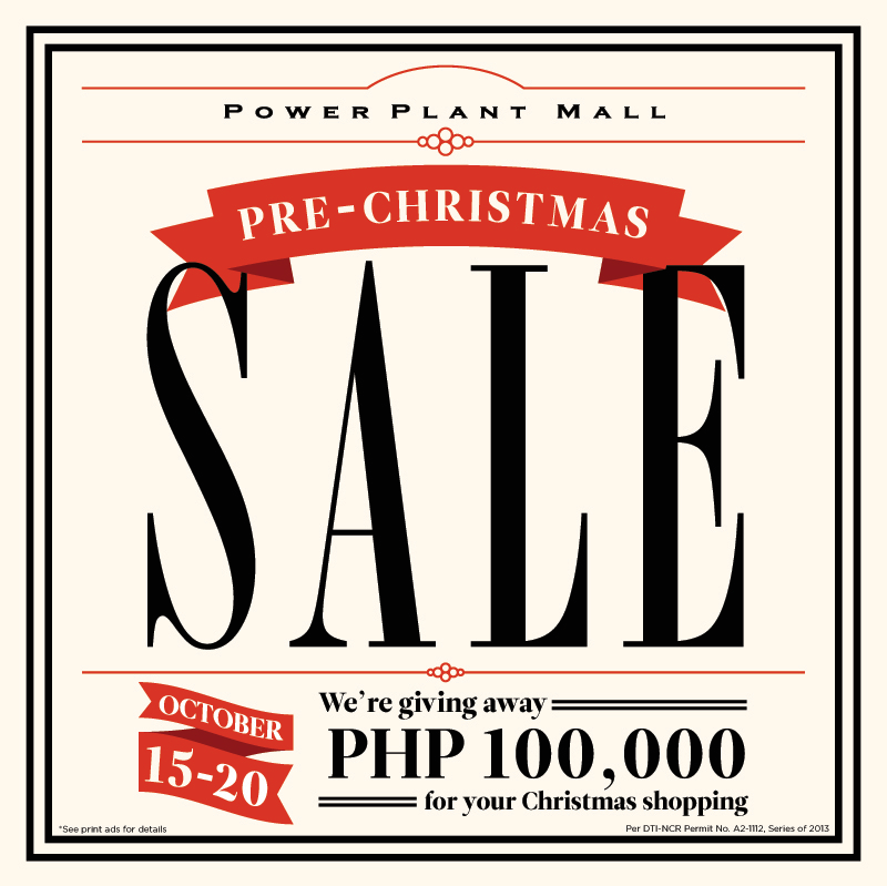 Power Plant Mall Pre-Christmas Sale October 2013