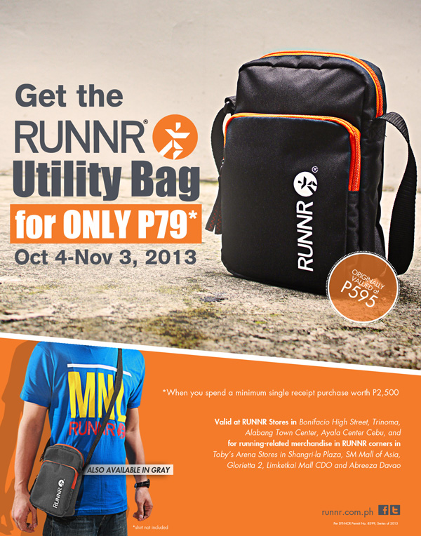 Runnr Utility Bag Promo October - November 2013
