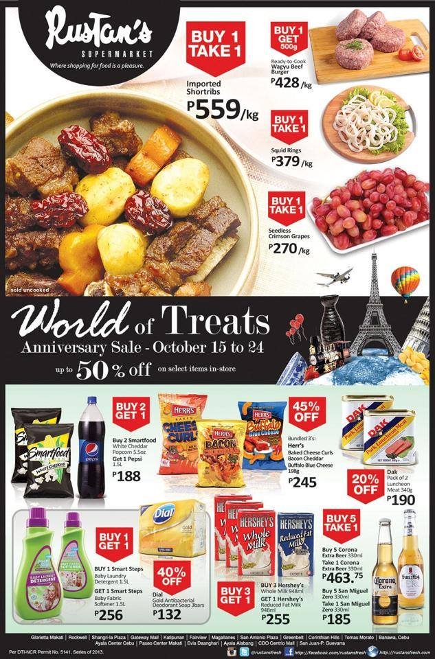 Rustan's Supermarket Anniversary Sale October 2013