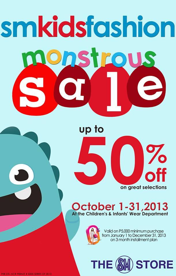 SM Kids Fashion Monstrous Sale October 2013