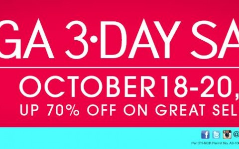 SM Megamall 3-Day Sale October 2013