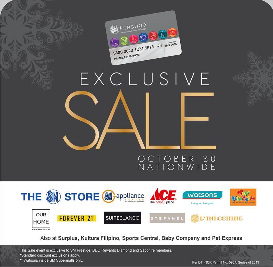 SM Prestige Exclusive Sale October 2013