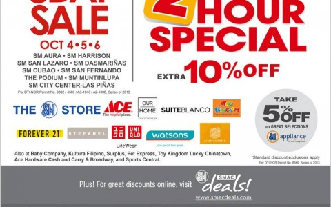 SM Supermalls 3-Day Sale October 2013