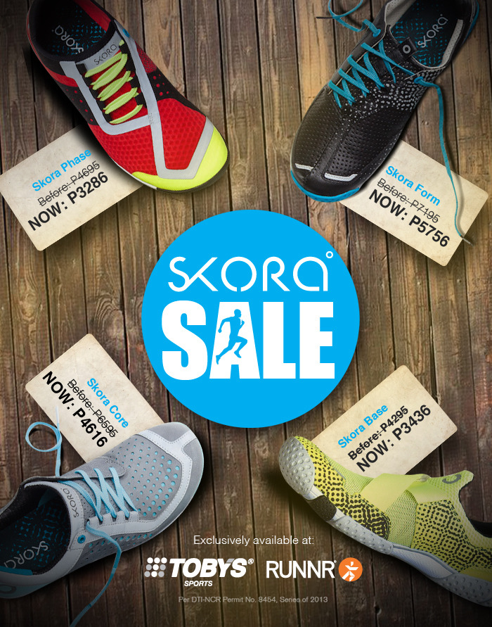 Skora Sale @ Tobys Sports & Runnr October - November 2013