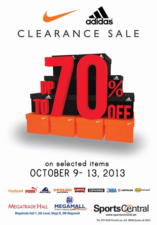 Sports Central Clearance Sale @ SM Megatrade Hall October 2013